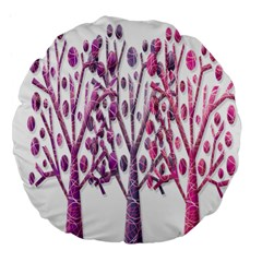 Magical pink trees Large 18  Premium Flano Round Cushions