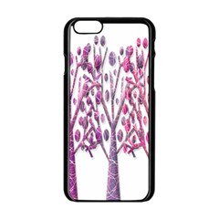 Magical pink trees Apple iPhone 6/6S Black Enamel Case
