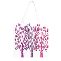 Magical pink trees Grocery Light Tote Bag