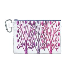 Magical pink trees Canvas Cosmetic Bag (M)