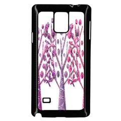 Magical pink trees Samsung Galaxy Note 4 Case (Black)