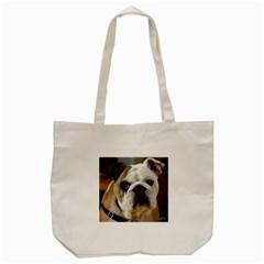 Bulldog Tote Bag (Cream)