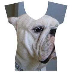 White Bulldog Women s V-Neck Cap Sleeve Top