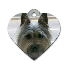 Cairn Terrier Dog Tag Heart (One Side)