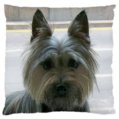 Cairn Terrier Large Flano Cushion Case (Two Sides)