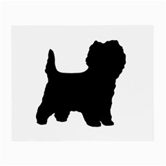Cairn Terrier Silo Black Small Glasses Cloth