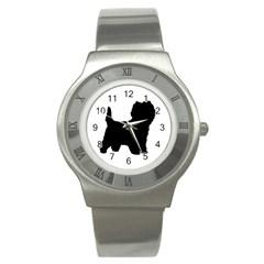 Cairn Terrier Silo Black Stainless Steel Watch