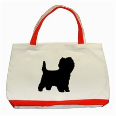 Cairn Terrier Silo Black Classic Tote Bag (Red)
