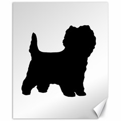 Cairn Terrier Silo Black Canvas 16  x 20