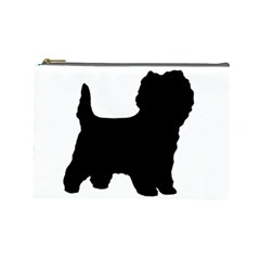 Cairn Terrier Silo Black Cosmetic Bag (Large)