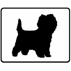 Cairn Terrier Silo Black Fleece Blanket (Medium)