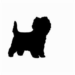 Cairn Terrier Silo Black Large Garden Flag (Two Sides)