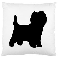 Cairn Terrier Silo Black Large Cushion Case (Two Sides)