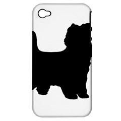 Cairn Terrier Silo Black Apple iPhone 4/4S Hardshell Case (PC+Silicone)