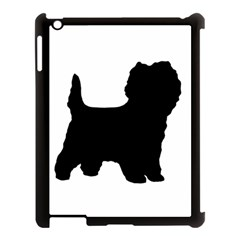 Cairn Terrier Silo Black Apple iPad 3/4 Case (Black)
