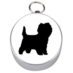 Cairn Terrier Silo Black Silver Compasses
