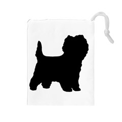 Cairn Terrier Silo Black Drawstring Pouches (Large)