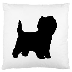 Cairn Terrier Silo Black Large Flano Cushion Case (One Side)