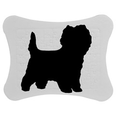 Cairn Terrier Silo Black Jigsaw Puzzle Photo Stand (Bow)