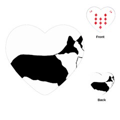 Ccardigan Welsh Corgi Silo Color Playing Cards (Heart)