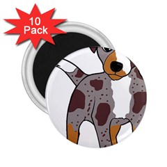 Catahoula Red Cartoon 2.25  Magnets (10 pack)