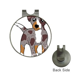 Catahoula Red Cartoon Hat Clips with Golf Markers