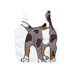 Catahoula Red Cartoon Full Print Recycle Bags (S)