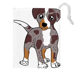 Catahoula Red Cartoon Drawstring Pouches (XXL)