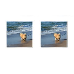 Chow Chow On Beach Cufflinks (Square)