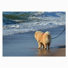 Chow Chow On Beach Large Glasses Cloth