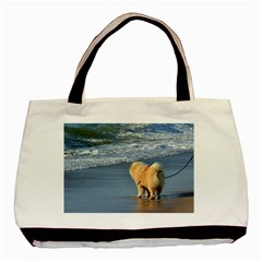 Chow Chow On Beach Basic Tote Bag (Two Sides)