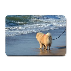 Chow Chow On Beach Small Doormat