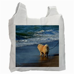 Chow Chow On Beach Recycle Bag (Two Side)