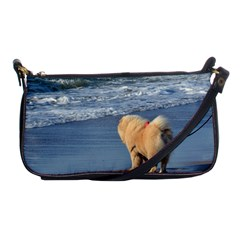 Chow Chow On Beach Shoulder Clutch Bags