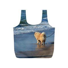 Chow Chow On Beach Full Print Recycle Bags (S)