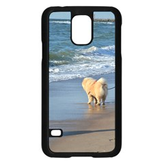 Chow Chow On Beach Samsung Galaxy S5 Case (Black)