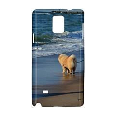 Chow Chow On Beach Samsung Galaxy Note 4 Hardshell Case