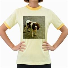 English Springer Spaniel Full Women s Fitted Ringer T-Shirts