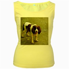 English Springer Spaniel Full Women s Yellow Tank Top