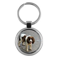 English Springer Spaniel Full Key Chains (Round)