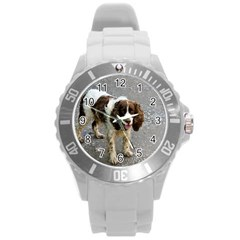 English Springer Spaniel Full Round Plastic Sport Watch (L)
