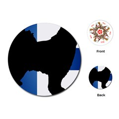 Finnish Lapphund Silo Flag Finland Playing Cards (Round)