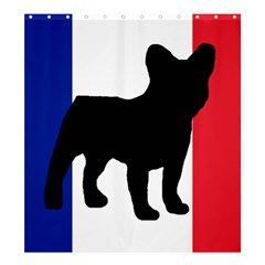 French Bulldog Silo France Flag Shower Curtain 66  x 72  (Large)