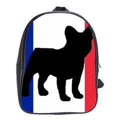 French Bulldog Silo France Flag School Bags(Large)