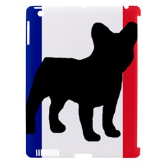 French Bulldog Silo France Flag Apple iPad 3/4 Hardshell Case (Compatible with Smart Cover)
