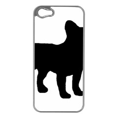 French Bulldog Silo France Flag Apple iPhone 5 Case (Silver)