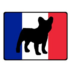 French Bulldog Silo France Flag Double Sided Fleece Blanket (Small)