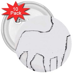 French Bulldog Silo 3  Buttons (10 pack)