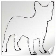 French Bulldog Silo Canvas 16  x 16