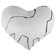 French Bulldog Silo Large 19  Premium Heart Shape Cushions